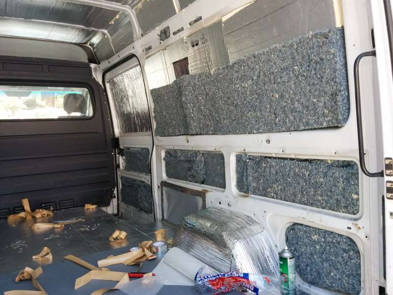 Insulating A Sprinter Camper Van Conversion Seanstoops Com