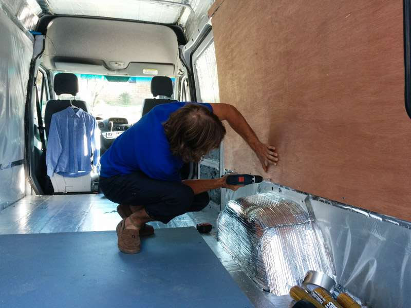 Building The Walls And Ceiling In A Sprinter Camper Van Conversion