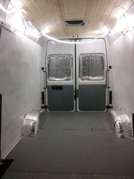Building The Walls And Ceiling In A Sprinter Camper Van