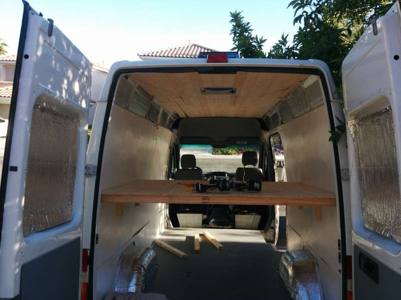 Building A Bed In A Sprinter Camper Van Conversion