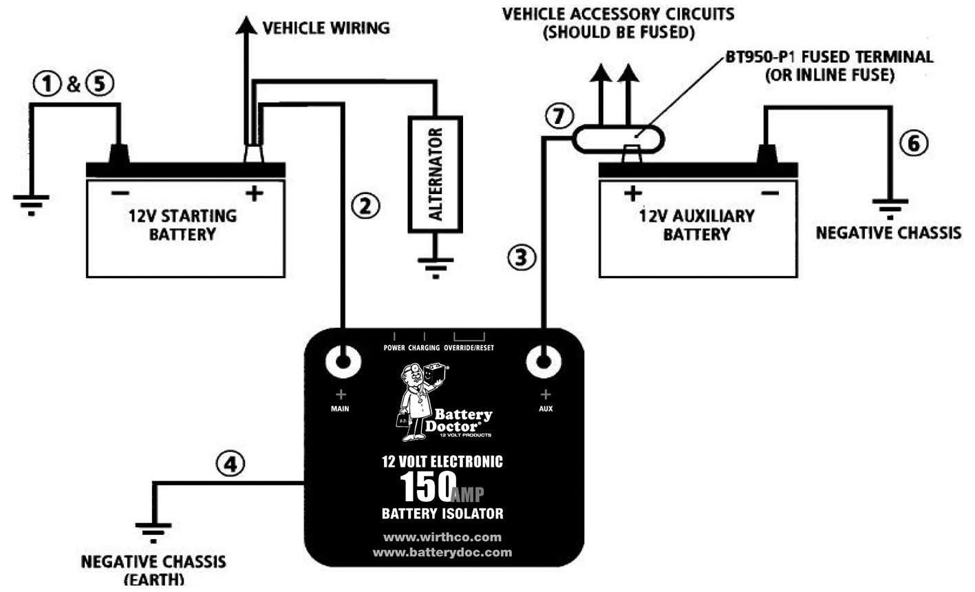 Installing A Battery Charged By The Alternator In Sprinter Camper Trailer Plug Wiring Diagram Rv Dual Systems Schematic